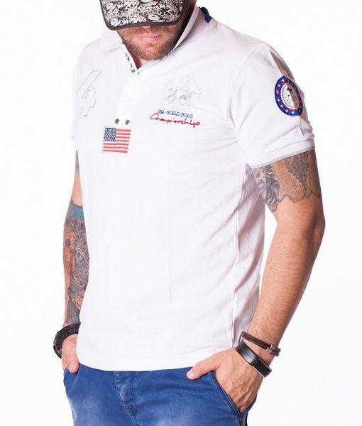 La Martina Tricouri Polo - N:4 World tricou polo alb