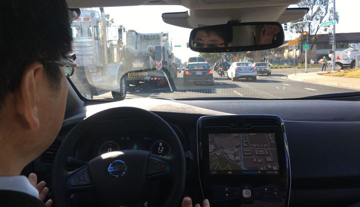 What it's like to ride in a self-driving Nissan electric LEAF