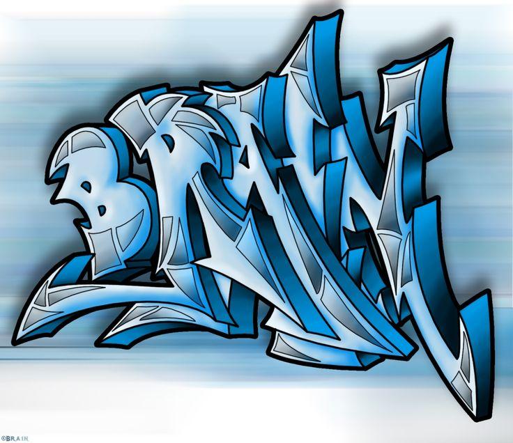 graffitis: graffiti con el nombre brayan