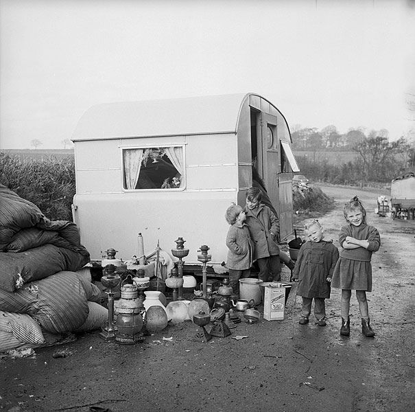 Irish gypsies in Anglesey by Geoff Charles, 1963