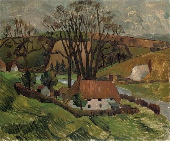 Christopher Wood, Cottage at Broadchalke, Wiltshire