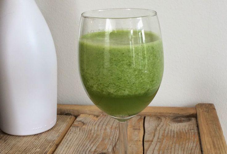 Beaufood: Groene smoothie van spinazie, appel en meloen