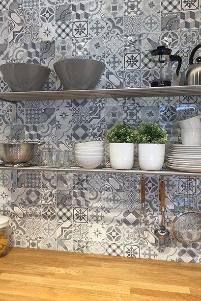 wandtegels, keuken wandtegels, patroontegels, impermo, retro, landelijke keuken, landelijk interieur