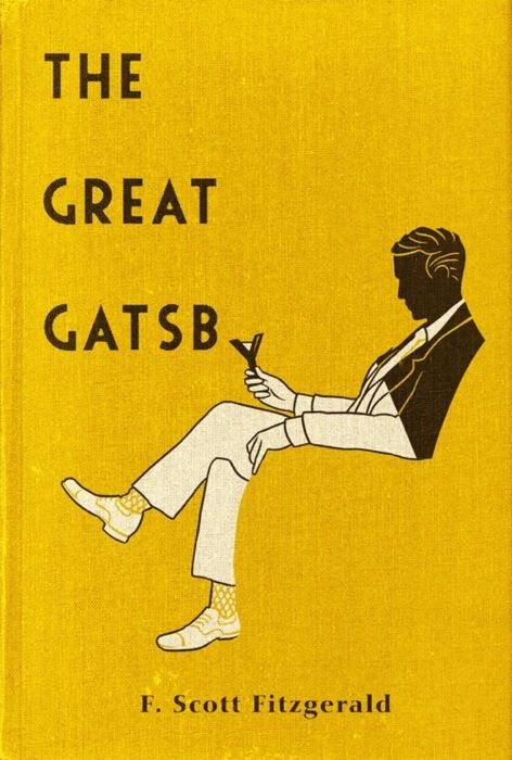 The Great Gatsby: Covers Book, The Great Gatsby, Book Covers Design, Jay Gatsby, Negative Space, F Scott Fitzgerald, Book Jackets, Covers Art, High Schools