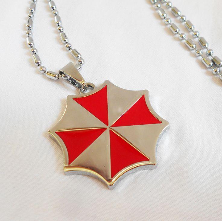 Фильмы обитель зла зонтик LOGO алиса красный зонтик ювелирные изделия кулон ожерелье для человека и женщины ювелирные изделия