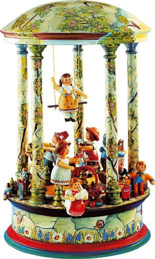 "Käthe Wohlfahrt - Online Shop | ""Childhood Joys"" Music Box | Rothenburg ob der Tauber"