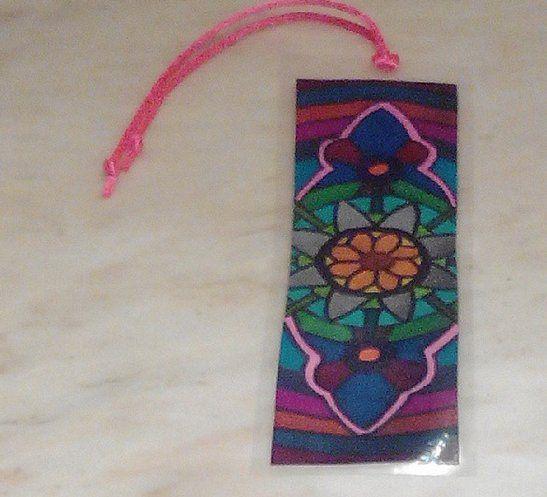 #Marcapáginas para libro de mándala de flores #mándalas #manualidades #regalos #Navidad