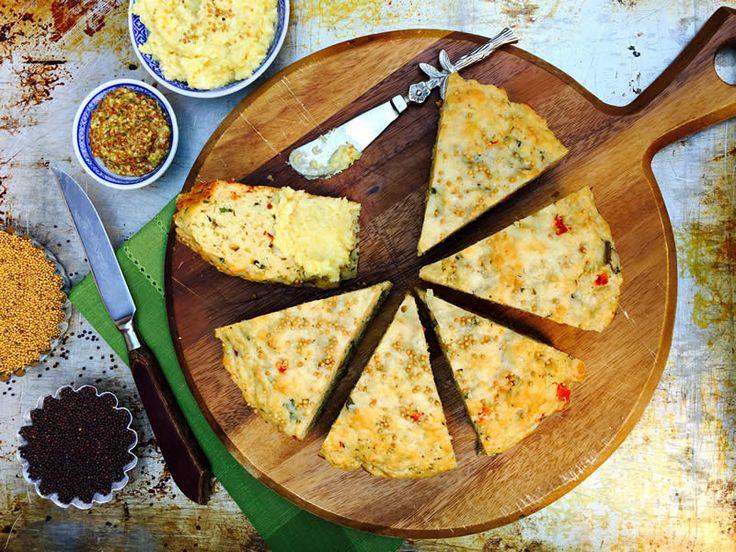 Artisan Cheese and Herb Bread Recipe - SaskMustard
