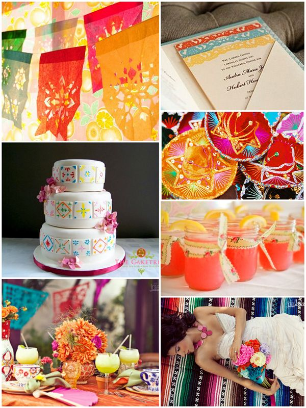 cinco de mayo, Weddings, Inspiration, Nashville, TN, Wedding 101, Yellow, Orange, Pink, Purple, Blue, Paper, Invitations, Stationery, Cake, Hats, Sombreros, Margaritas, Mason Jars, Table Setting, Reception, Bride, Blanket, Gown, Dress, Mexican, Fiesta