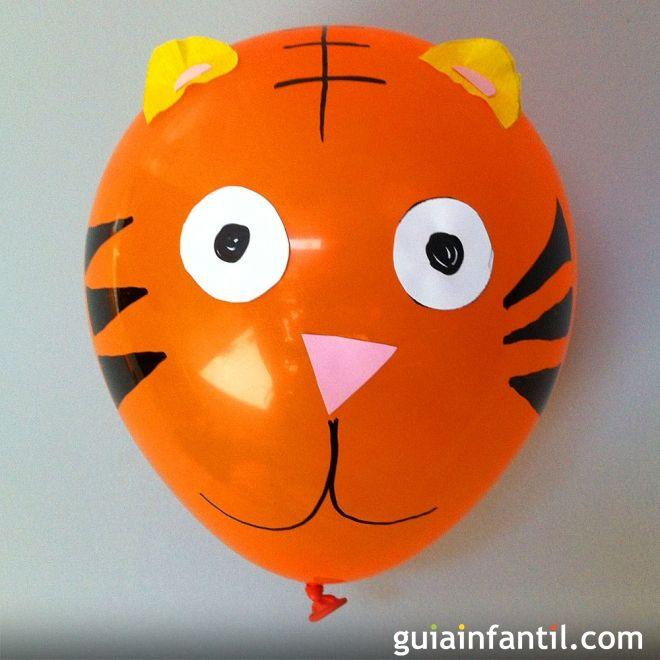 Globo con forma de tigre