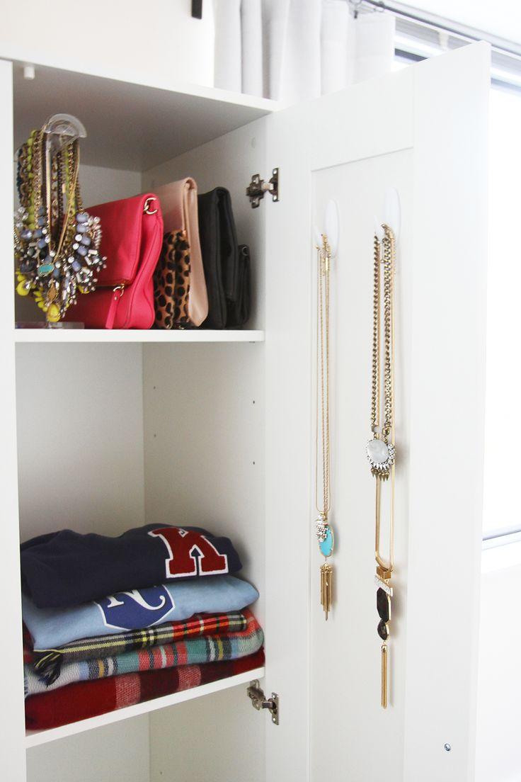 BRIMNES IKEA Wardrobe For A Studio Apartment | via Ashley Ella Design | Colorful + Organized Closet