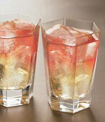 Frenchy Pear Vodka, 1.5 ounce Pineapple Juice, 3 ounce Cranberry Juice, 1 ounce Add some ice in a rock glass to fill it. Pour in the vodka and pineapple juice. Serve