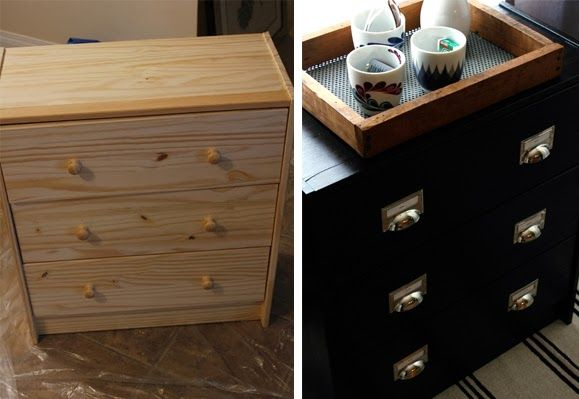diy commode a 25 poign es et peinture ik a avant. Black Bedroom Furniture Sets. Home Design Ideas