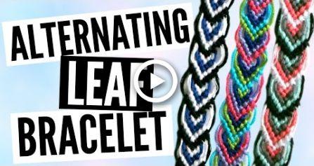 DIY Alternating Leaf/Leaves Friendship Bracelet Pattern Tutorial – Hairstyles & Nails // DIY ♥