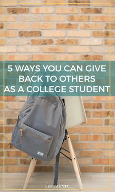 Even as a college student with a small bank account, there are still many ways you can give back to the community - both on an off campus.