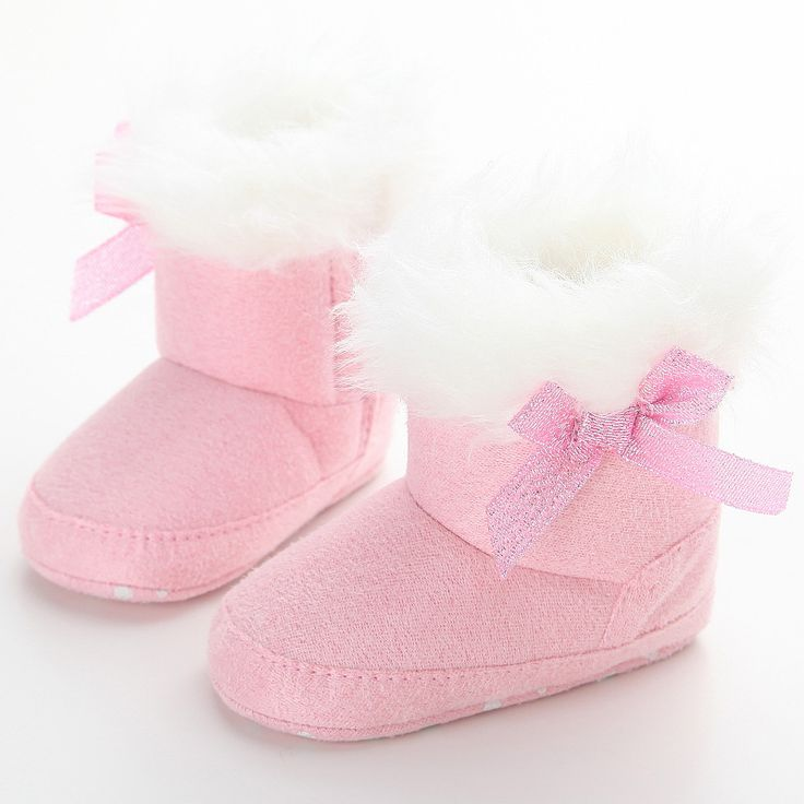 >> Click to Buy << Cute Pink Turned-over Edge Baby Girl Snow Boots Worm Plush Infants Baby Shoes Drop Shipping #Affiliate