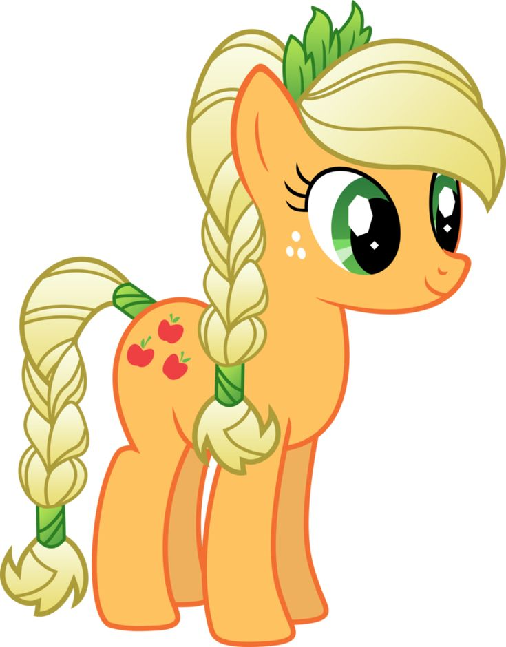 My Little Pony Friendship Is Magic Applejack as a crystle pony.