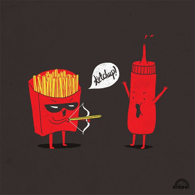 Day 85: Ketchup! by ILoveDoodle, via Flickr