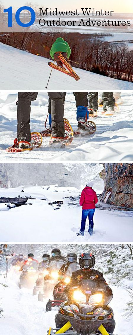 Top 10 outdoor winter destinations in the Midwest. More info: http://www.midwestliving.com/travel/around-the-region/10-midwest-outdoor-winter-adventures