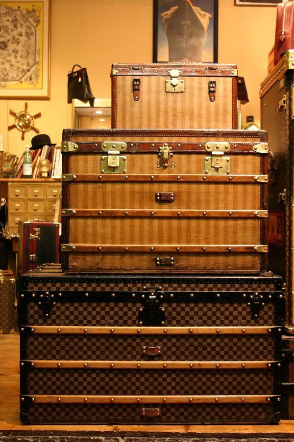 Louis Vuitton Treasure Trunks of the Paris Puces. See also http://www.lemondeduvoyage.com/