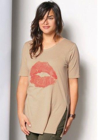 Dlhé tričko s potlačou a rozparky #ModinoSK