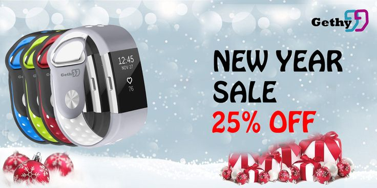 New Year Sale off with 25% discount of your purchase. Get ready, get healthy!  #Gethy #fitbit #fitbitcharge2 #fit #fitness #sport #sports