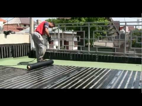 Watertproofing antiroot & diffusion membrane Bauder - flat roofing