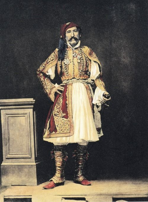 Filippos Margaritis, General Christodoulos Hadjipetros, c.1855, Greece