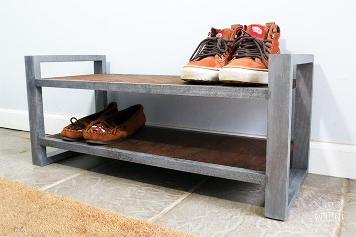 Diy Industrial Shoe Rack Diy Huntress Industrial Shoe Rack Wood Shoe Rack Diy Shoe Rack