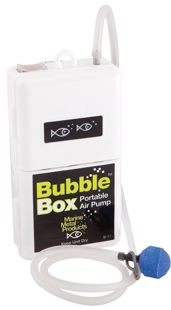 Bubble Box Portable Air Pump by Marine Metal Products - Well Fish Bait Fishing #MarineMetal
