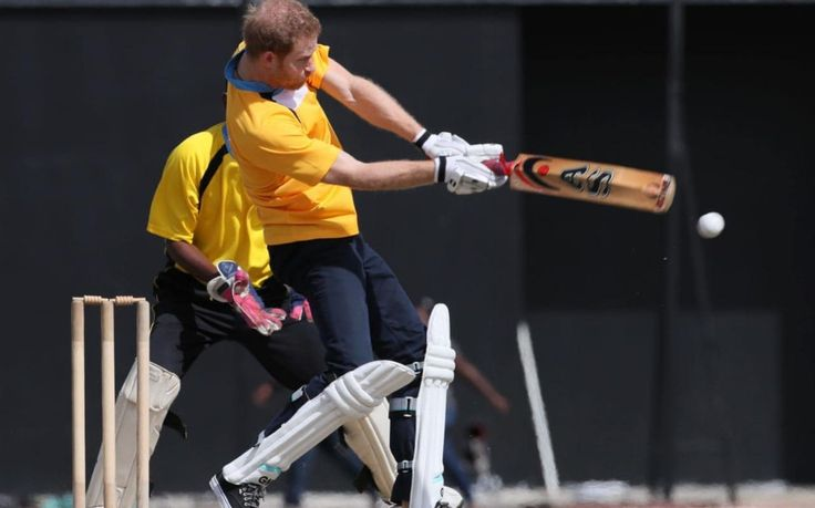 He had modestly said his best cricketing days were over, but Prince Harry showed he has not forgotten how to wield a bat as he scored an impressive nine not out off just three balls today.