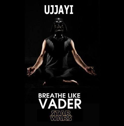 Love this. Darth Vader Yoga. Use your ujjayi breath! Yoda Geek I am.