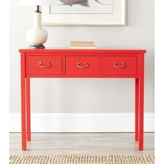 Safavieh Cindy Red Console Table | Overstock.com Shopping - The Best Deals on Coffee, Sofa & End Tables