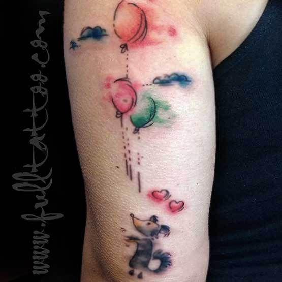 Watercolor Fade Tattoo