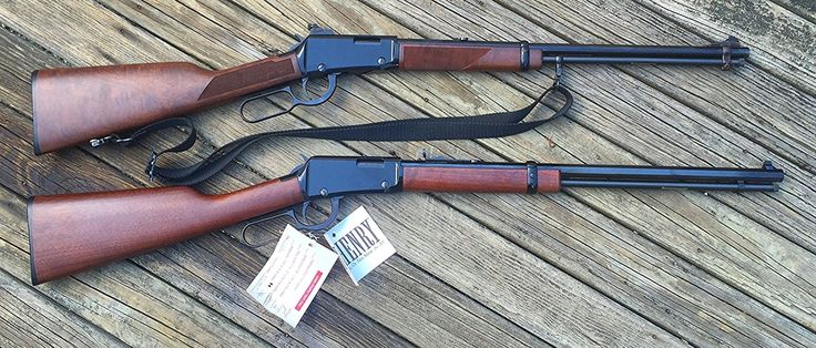 Lever action rifles. Henry lever action rifles the frontier. Great cowboy guns. Modeled after the Winchester lever action 1894.