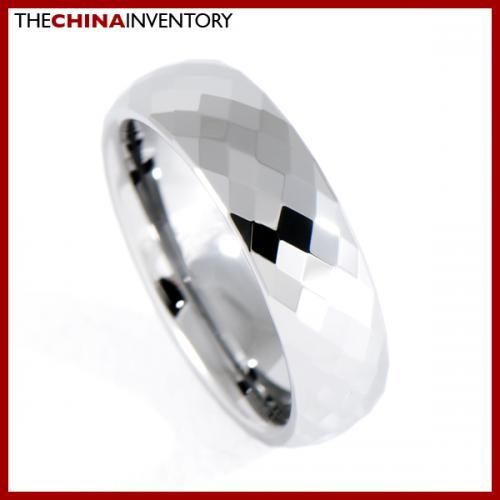 6MM SIZE 6.5 FACETED TUNGSTEN CARBIDE BAND RING R0909B
