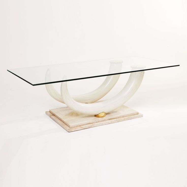 Maison Jansen for Ralph Pucci Collections Italy Faux Elephant Tusk Coffee Table