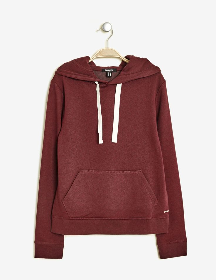 sweat à capuche basic bordeaux chiné - http://www.jennyfer.com/fr-fr/vetements/joggness/sweat-a-capuche-basic-bordeaux-chine-10011079025.html
