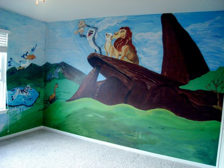 Lion King Mural Baby S Room Pinterest Lion Murals