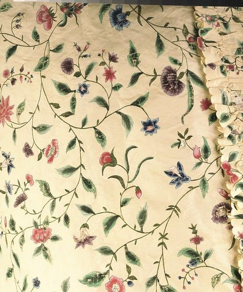 1770s_V hand-painted silk; sack-back fabric