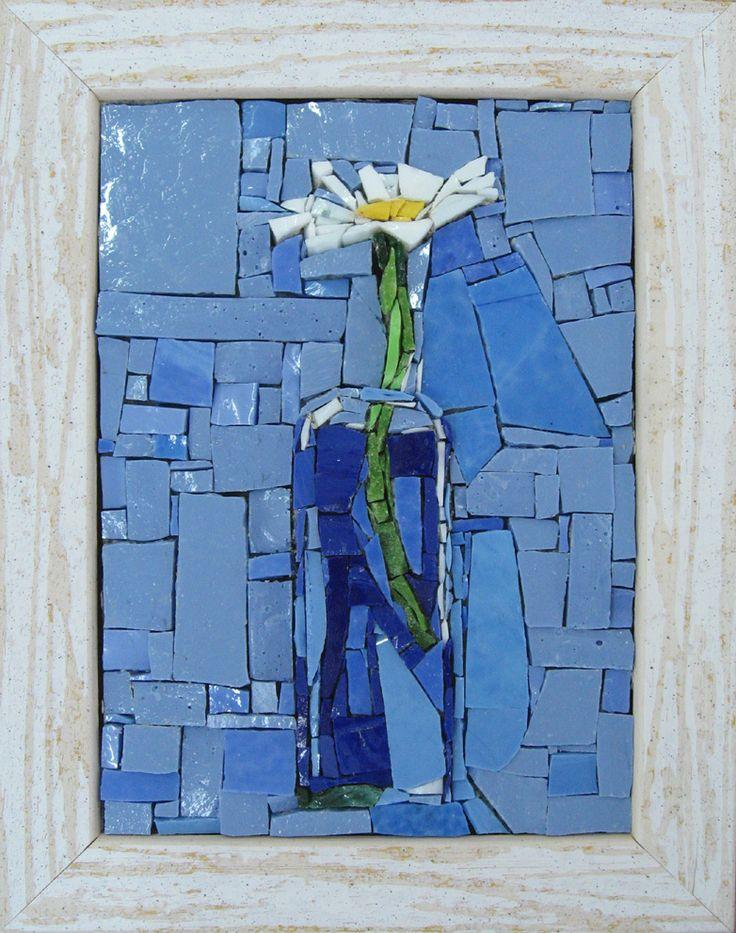 Beautiful, simple blue mosaic