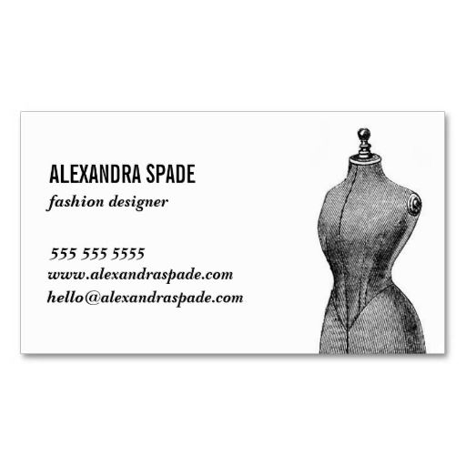 $24.95 per pack of 100 cards.  The New Cool Biz Card - Fashion, Sewing, Tailor Business Card Template. Perfect for a designer, stylist, tailor, artist, shop owner, boutique owner, and manufacturer. Dress form illustration.