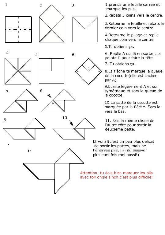 pliagesorigamimodelescocottegif  papier  pinterest  origami