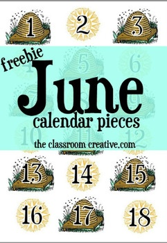 Free Printable June Calendar Cards | End of the School ...