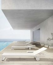 Contemporary lounge chair / aluminum / garden / residential