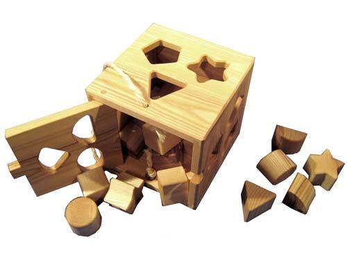 [Wooden Frog ウッデンフロッグ]白木型入れBOXセット - 木のおもちゃ赤ちゃんのおもちゃ木製玩具eurobus