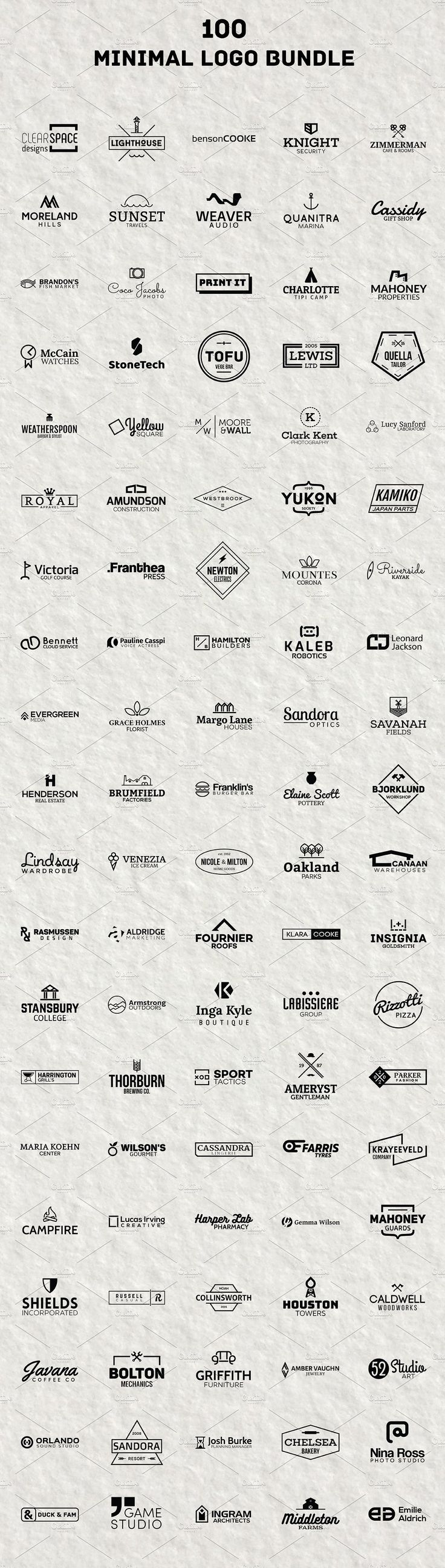 100 Minimal Logo - BUNDLE by BART.Co Design on @creativemarket