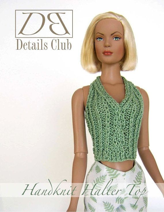 "Knitting pattern for 16"" doll (Tyler Wentworth): Handknit Halter Top"
