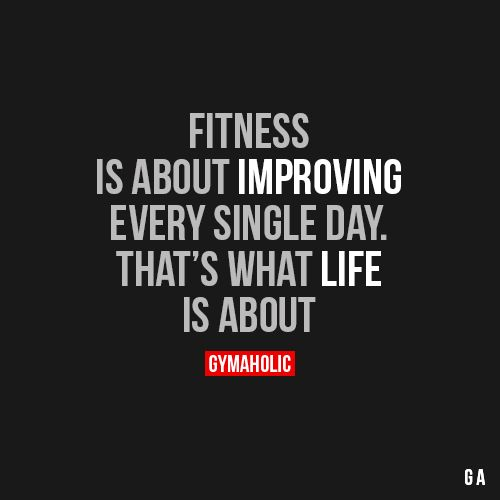 Fitness Is About Improving