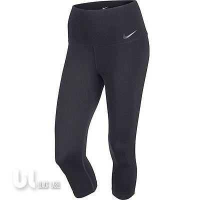 Nike Sculpt Capri Leggings Damen 3/4 Fitness Jogging Trainings Laufhose Schwarz